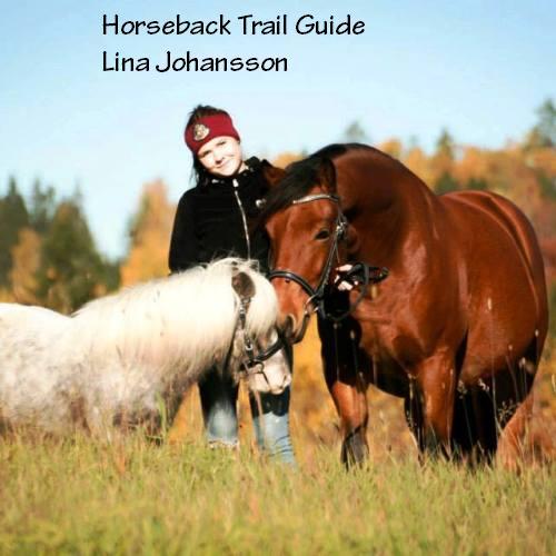 Horseback trail guide Lina Johansson