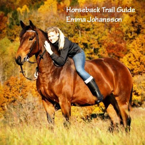 Horseback trail guide Emma Johansson